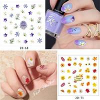 ingrosso decalcomanie di pizzo-2D Nail Art Decorazione Nail Art 60 stili Flower Leaf Design in pizzo Nails Art Manicure Decalcomanie Nail trucco