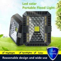 luzes led 12v para camping venda por atacado-Luz de Inundação LEVOU Energia Solar à prova d 'água IP65 150lm Ao Ar Livre de Acampamento de Emergência Multi Função LEVOU Holofote Lâmpada de Parede