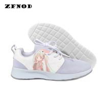 3d çizgi film ayakkabıları toptan satış-3D rahat ayakkabılar erkekler / kadınlar Harajuku 3D baskı Tuval shoes2019 sıcak moda yüksek kalite Japon Karikatür Taze Kızlar