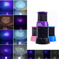 proyector de luz cosmos al por mayor-Colorido 6 Estilo para elegir LED Cosmos Star Master Sky Noche estrellada Proyector Lámpara de luz Buen regalo para niños
