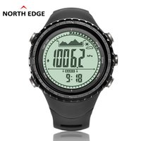 Wholesale pedometer gift online – NorthEdge Men s sport Digital watch Hours Men Gift wristwatch Altitude Barometer Compass Thermometer Pedometer camping
