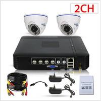 h 264 dvr cctv systems al por mayor-Sistemas de Cámara de seguridad 4CH H.264 1080P Lite + DVR preinstalado y alertas por correo electrónico a la intemperie 1080P CCTV Cámaras Domo