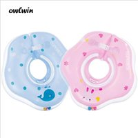 Wholesale inflatable infant swim ring for sale - Group buy Swimming Baby Accessories Neck Ring Tube Safety Infant Float Circle for Bathing Inflatable Flamingo Inflatable Water Dropship