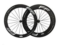 Wholesale 88mm clincher wheel set online - FWD mm mm Carbon Bike Wheels Clincher mm Carbon Fiber Road Bike Wheels Holes C Novatec or Powerway Hub