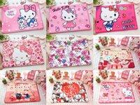 desenhos animados cor de rosa fofos venda por atacado-Bonito Dos Desenhos Animados Olá Kitty Tapete Tapete Macio Para As Crianças Em Casa Decoração Do Quarto Sala de estar Mat Foor Rosa Anti-slip Tapete Tapete