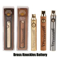 Wholesale adjustable battery variable voltage for sale - Group buy Brass Knuckles Battery mAh Good mAh Wood SS Vape Pen Preheat VV Variable Voltage Battery For Kingpen Thick Oil Cartridge Tank