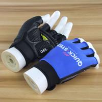 пальцевые перчатки оптовых-2019 быстрый шаг Велоспорт Перчатки Половина Пальцев Anti Slip Gel Pad Дышащий Мотоцикл MTB Горные Дороги Велосипедные Перчатки Мужчины Спорт Велосипед варежки