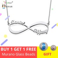 Wholesale endless love jewelry for sale - Group buy StrollGirl Personalized Infinity Necklace Sterling Silver Custom Infinity Name Necklace Endless Love Jewelry Christmas Gifts