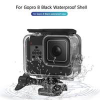 casa gopro venda por atacado-Dive capa para GoPro 8 impermeável caso habitação Underwater Protector tampa da caixa Shell para GoPro Hero8 Som
