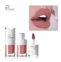 Wholesale mini lipstick gloss resale online - PUDAIER Lip Gloss Waterproof Long Lasting Matte Liquid Lipstick Vivid Colorful Beauty Lip Gloss Makeup Beauty Mini Candy