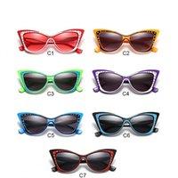 cristal de borboleta de gato venda por atacado-Óculos de Sol de cristal Retro Borboleta Óculos Tipo de Olho de Gato Amantes Casal Hip Hop Não Deslumbrante À Prova de Poeira 7 8le F1