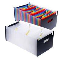ingrosso plastica di fisarmonica-37 Pocket Espansion A4 Large Plastic Espandibile File Organizer Permanente Fisarmonica Cartella per documenti Business Q190603