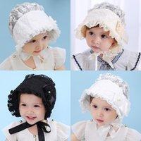 Wholesale princess visor resale online - Children s visor lace rust flower princess hat color breathable comfort mixed batch welcome to order