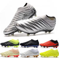 zapatos de fútbol para niños al aire libre al por mayor-Zapatos nuevos de la llegada de la Copa 20 + FG fútbol para hombre 19 Zapatos Negro Mercurial Superfly botas de fútbol al aire libre Niños Deportes Mundial de fútbol de las grapas EF8309