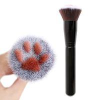 ferramenta de moldagem facial venda por atacado-Forma de garra do gato bonito fundação escova de cabelo feito de fibra de vidoeiro lidar com pincel de maquiagem rosto linda popular compõem ferramenta de beleza