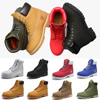 Wholesale Cowboy Boots - Newest Timberland Boots Luxury Mens Women Designer Martin Boot Chestnut Triple Black White Camo Winter Boots size 36-46 Wholesale Dropship