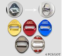 elektrikli kilit araba toptan satış-Araba Styling Kapı Kilidi Kapak Kılıf Honda Mugen Güç Civic Accord CRV Hrv Caz Aksesuarları Araba-Styling