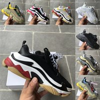 Wholesale women s blue casual shoes for sale - Group buy Best Quailty Black White Red Pink Triple S Luxury Fashion Designer Shoes Mens Casual Women Outdoor Tennis Sneaker US5