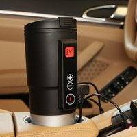 Wholesale 12v car mug for sale - Group buy Car V Electric Hot Water Cup Thermostat Car Home Temperature Control Cup Multi Function Heating Mug Kettle