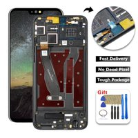 huawei lcd cam toptan satış-Huawei Onur için 8X LCD Ekran Dokunmatik Ekran Digitizer Paneli Cam Meclisi Için Çerçeve ile Huawei JSN-L21 JSN-L42 JSN-L22 LCD