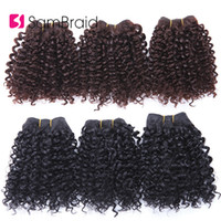 Wholesale bohemian kinky curly hair for sale - Group buy SAMBRAID Bundles Short Afro Kinky Curly Hair Bundles Hair Wefts Blended Bohemian Style Inches Ombre Synthetic Weaves