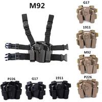 ingrosso fodera tattica a pale-FIRECLUB Tactical Destra Paddle Leg Belt Fondina per M1911 M92 P226 G17