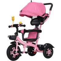 ingrosso la moto si siede-Può sedere Lie Passeggino 3 in 1 portatile del bambino Triciclo Bike Carriage 3 Ruote convertibile Maniglia bambini biciclette Trike