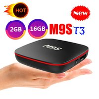 set box medya oynatıcı wifi toptan satış-2019 En Ucuz M9S T3 Android akıllı Tv Kutusu Dört Çekirdekli 2 GB 16 GB H3 Çip Desteği Wifi 4 K 3D Media Player set top Box Daha Iyi TX3 X96 MINI T95Q