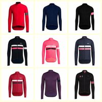 Wholesale long sleeve cycling jersey sale resale online - RAPHA team Cycling long Sleeves jersey New Hot Sale Top Brand Quality Bike Wear Comfortable riding clothes U32515