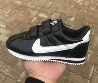 garoto gancho venda por atacado-Todo o tamanho Nova Criança Esporte Sapatos Meninos Meninas Sneakers Ocasionais das Crianças Athletic Running Shoes para Crianças sapatos de marca gancho laço De Couro A61