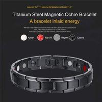 stahlheilungsarmband großhandel-Therapeutische Energieheilungsarmband Edelstahl-Magnetfeldtherapie-Armband