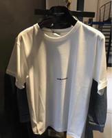 hand-malerei hemden groihandel-2019 fashionmen Neues Muster T-Shirt r Handgemalte Graffiti-Kleinbuchstaben Frühling Sommer harajuku T-Shirt Männer und Frauen Heißer Verkauf Kurzschluss