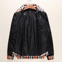 estilos de abrigo deportivo para hombre al por mayor-Patrones de diseño para hombre de las chaquetas de lujo delgada capa de la manera del estilo sport del niño británico desgaste de las tapas a prueba de viento de la marca de ropa al por mayor de 2020 de