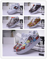 paten ayakkabıları tasarla toptan satış-2019 yeni Tasarım renkler hakiki deri FORCE1 klasik düşük yüksek kesim erkek kuvvet sneakers Zorlayan bir paten Ayakkabı boyutu 40-45