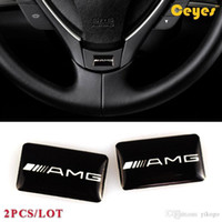 Wholesale accessories for mercedes resale online - Fashion Car Plastic Drop Sticker for Mercedes Benz AMG Personality Labels Logo Brand Auto Decorations Accessories Car Styling