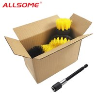 Wholesale electric sponge cleaner resale online - ALLSOME Electric Drill Cleaning Brush with Sponge and Extend Attachment Tile Grout Power Scrubber Tub Cleaning Brush HT2812