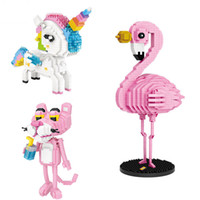 desenhos animados do bloco do loz venda por atacado-LOZ diamante Blocos dos desenhos animados Animais do boneco de acção Tijolos Brinquedos coloridos para o presente das crianças DIY 9204 9205 9785
