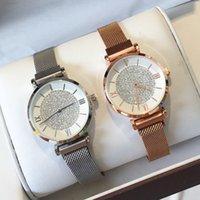 sieht gute preise großhandel-Gute neue Gypsophila Zifferblatt Dame Kleid Armbanduhr Magnetverschluss Mode Frauen Uhr Diamant Luxus Quarz Uhren De Marca Mujer Großhandelspreis