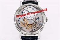 venda esqueleto dos relógios dos homens venda por atacado-Venda quente de Luxo 7057BB / 11 / 9W6 Assista Esqueleto Completo de reserva de Energia 50 horas de Aço Inoxidável Automático Caso preto cinta de bezerro Mens Watch