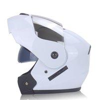 capacete rosto cheio virar venda por atacado-Motocicleta Capacete De Corrida Modular Dual Lens Moto Moto Capacete Flip Up Capacetes Casco Moto Capacete Casque Completo
