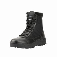 Wholesale army desert military boots resale online - Military Boots Mens Working Safety Shoes Army Black Combat Boots Men Shoes Desert Female