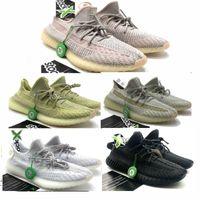 Wholesale big laced socks for sale - Group buy 2019 big size v2 triple black static lundmark antlia beluga zebra breds v2 Kanye West Running shoes With Box Receipt socks