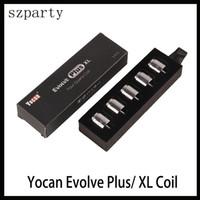 kit d'expédition gratuite achat en gros de-Yocan Evolve Plus XL Cire Quad Quad Quad Bobine Bobine Bobine Avec Capuchon De Bobine Pour Evolve Plus XL Kit Dab Pen Livraison