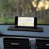 mattenhalter für telefon großhandel-Handyhalter Autohalterung Ständer Silikon Pad Dash Mat Dock Anti-Rutsch für Smartphones Tablet PC GPS-Geräte Auto-Recorder