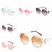 b99cfb52a0c Wholesale rhinestone sunglasses for sale - Rhinestone Snake Sunglasses  colors Double Round Frame Mirror Sunglasses Women