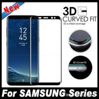 protecteur d'écran de téléphone chaud achat en gros de-Vente chaude Protecteurs D'écran De Téléphone Portable En Verre Trempé 9H Protecteur D'écran De Couverture Complète Pour Samsung Galaxy S8 S8