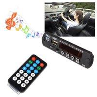 12v dekoder toptan satış-Araba aksesuarları için HEVXM Yüksek kaliteli Kablosuz Bluetooth 12V MP3 WMA Decoder Kurulu Ses Modülü USB TF Radyo