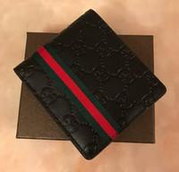 Wholesale coin case leather resale online - 2019 new Best price Men s Fashion Leather Wallet Short Clip Artisan Craftsmanship Designer Card Case Business Card Holder Quality Drop shipp