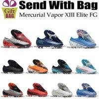 ronaldo açık hava futbol ayakkabıları toptan satış-Yüksek Kaliteli Mercurial Buharı XIII Elite FG CR7 ACC Futbol Ayakkabı Cristiano Ronaldo Rüya Hız Mens Açık Neymar Futbol Boots Kramponlar