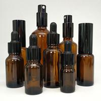 1oz sprühflaschen großhandel-1 Unze 30ml 5-100ml Braunglas Liquid Dropper Flasche Spray Flaschen Pumpflasche für ätherische Öle Parfüm, Gesichtsreiniger, Shampoo, Duschgel